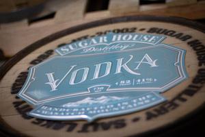SHD Tin Sign Vodka Label
